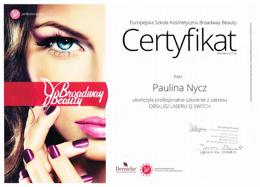 Certyfikat-uczestnictwa-w-szkoleniu-OBSŁUGA-LASERU-Q-SWITCH-European-Cosmetic-School-Broadway-Beauty.jpg